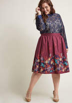 ModCloth Charming Cotton Skirt with Pockets in Floral in XXS