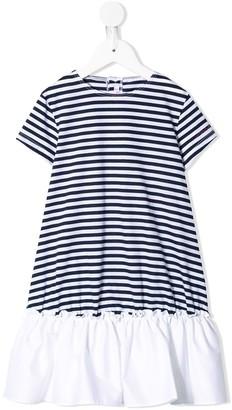 Il Gufo flared striped T-shirt dress