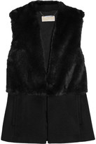 MICHAEL Michael Kors Faux Fur And Felt Vest - Black