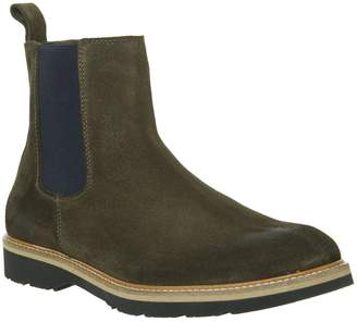 Ask the Missus Igloo Chelsea Boots Khaki Suede