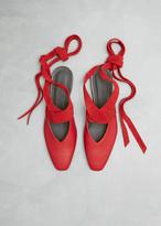 J.W.Anderson Scarlet Open Flat Ballerina