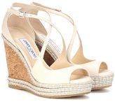 Jimmy Choo Dakota 120 leather wedge sandals