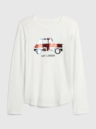 Gap Kids City Graphic Flippy Long Sleeve Shirt