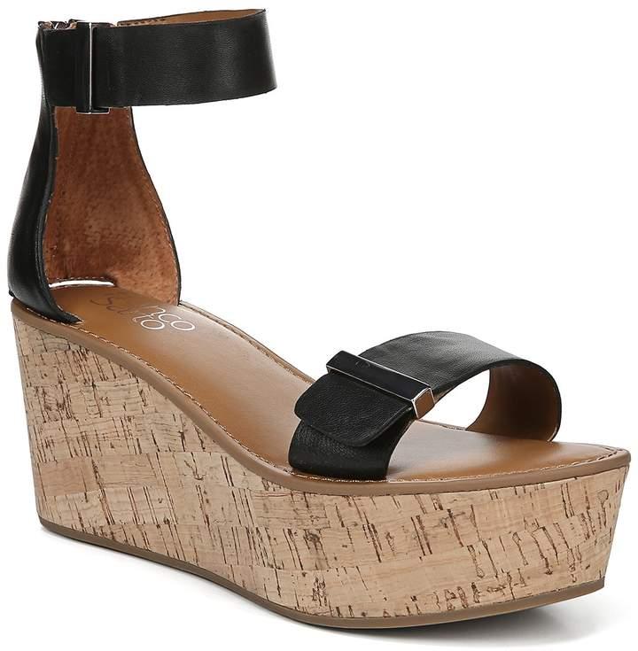 Franco Sarto Joni Leather Platform Wedge Sandal