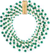Rosantica Universo Gold-tone Quartz Necklace - Green