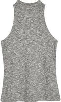 River Island Womens Grey marl ribbed high neck top