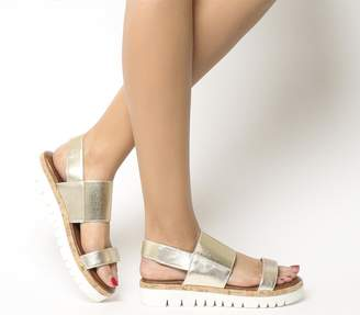 Inuovo Sling Back Sandals Gold