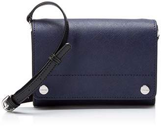 Calvin Klein womens Flap Saffiano Leather Flap Over Small Crossbody