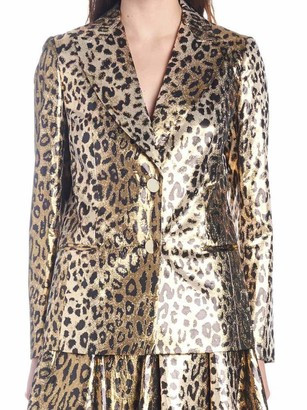 Sara Battaglia Leopard Print Blazer