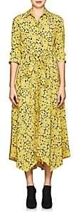 Cédric Charlier Women's Floral Silk Crepe Shirtdress-Yellow