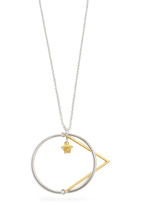 Versace Layered-pendant necklace