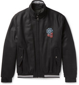 Lanvin - Appliquéd Wool-twill Bomber Jacket