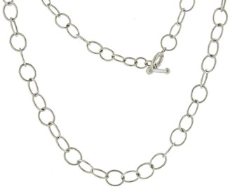 "Cathy Waterman Lacy 15.5"" Chain Platinum Necklace"