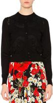 Dolce & Gabbana Button-Front Lace-Detail Cardigan, Black
