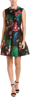 Valentino Godet Tropical Dream Silk-Blend A-Line Dress