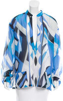 Emilio Pucci Printed Long Sleeve Tunic