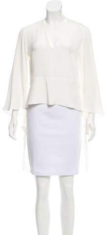 Derek Lam Long Sleeve Silk Top w/ Tags