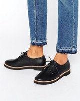 London Rebel Lace Up Flat Brogue Shoes