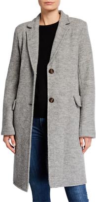 Fleurette 2-Button Wool Boucle Coat