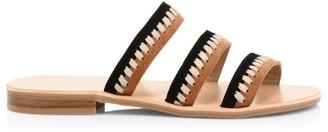 Jack Rogers Amelia Suede Two-Tone Braid Strap Sandals