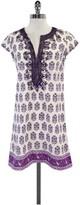 Calypso Purple & White Floral Print Cotton Dress