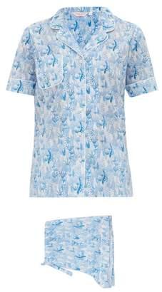 Derek Rose Ledbury 23 Cotton Pyjamas - Womens - Light Blue