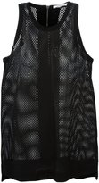 Helmut Lang perforated vest - women - Silk/Goat Skin/Spandex/Elastane/Viscose - S