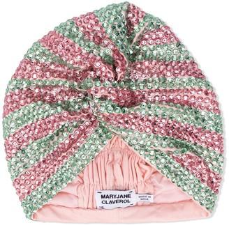 MaryJane Claverol Dominique crystal-embellished turban