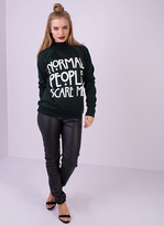 Missy Empire Frieda Green Normal People Scare Me Sweatshirt