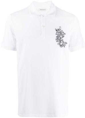 Alexander McQueen logo-embroidered polo shirt