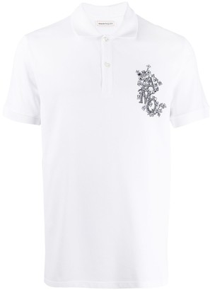 Alexander McQueen Logo-Embroidered Polo Shirt