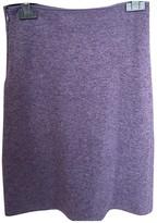 Blumarine Purple Wool Skirt for Women