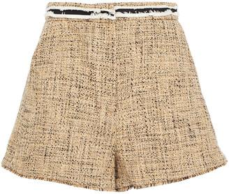 Sandro Soni Frayed Cotton-blend Tweed Shorts