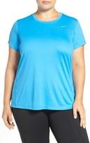 Nike 'Miler' Dri-FIT Extended Short Sleeve Top (Plus Size) (Regular Retail Price: $42.00)