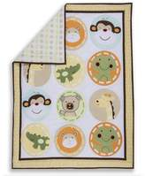 Dream On Me Animal Kingdom 2 Piece Playard Set, Green/Yellow by