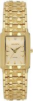 Elgin Womens Gold Nugget Diamond-Accent Bracelet Watch
