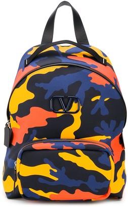 Valentino VLOGO camouflage backpack