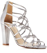 Delman Scandal Metallic Knotted High Heel Sandals