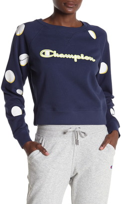Champion Campus French Terry Cropped Pullover