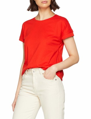 JDY Women's JDYLOUISA S/S FOLD UP TOP JRS NOOS T-Shirt
