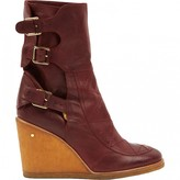 Laurence Dacade Burgundy Leather Ankle boots