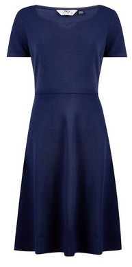 Dorothy Perkins Womens Tall Navy Sweetheart Fit And Flare Dress