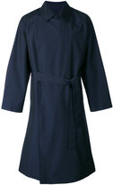 E. Tautz double breasted trench coat - men - Nylon/Wool - XS