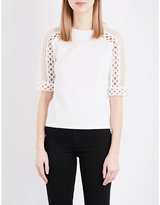 Maje Teny cotton-jersey T-shirt