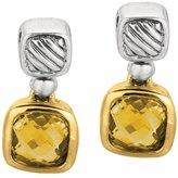 Phillip Gavriel 18k Gold & Sterling Silver Citrine Earrings