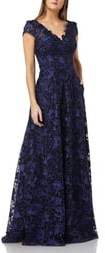 Carmen Marc Valvo Embroidered Gown