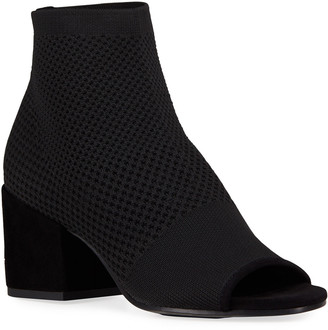 Croft Mesh-Knit Open-Toe Ankle Booties