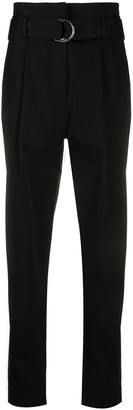 P.A.R.O.S.H. Cyber belted high waisted trousers