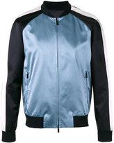 Emporio Armani embroidered eagle bomber jacket - men - Cotton/Viscose/Polyester - 46