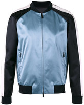 Emporio Armani embroidered eagle bomber jacket